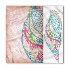 Rengarenk Deniz Kabuğu Bandana Fular