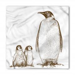 Penguen ve Yavruları Bandana Fular