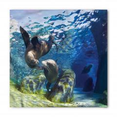 Denizaslanı Temalı Bandana Fular