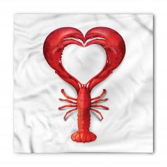 Kırmızı Kalp Desenli Bandana Fular