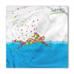Rengarenk Yüzücü ve Deniz Desenli Bandana Fular