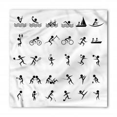 Dekoratif Sporcu Desenli Bandana Fular