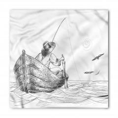 Şık Balıkçı ve Tekne Desenli Bandana Fular
