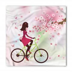 Bisikletli Kız Desenli Bandana Fular