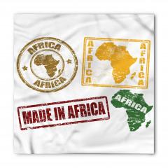 Afrika Temalı Bandana Fular