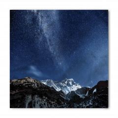 Yıldız ve Dağ Temalı Bandana Fular