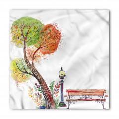 Sulu Boya Ağaç Bandana Fular