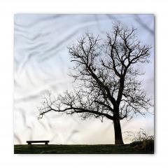 Yaprakları Dökülmüş Ağaç Bandana Fular