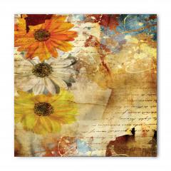 Çiçek Desenli Bandana Fular