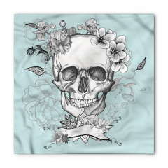 Kuru Kafa ve Çiçekler Bandana Fular