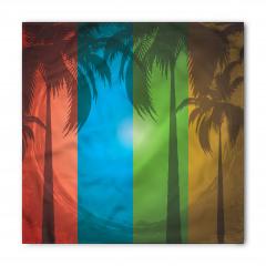 Tropikal Ada ve Palmiye Bandana Fular