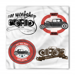 Nostaljik Klasik Araba Logoları Bandana Fular