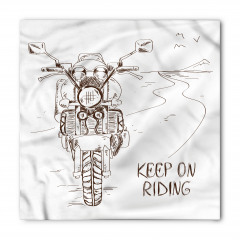 Motosiklet Yolculuğu Temalı Bandana Fular