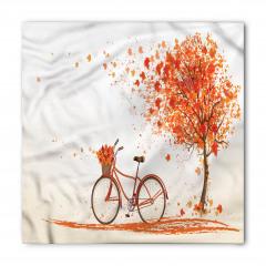 Bisiklet ve Ağaç Desenli Bandana Fular