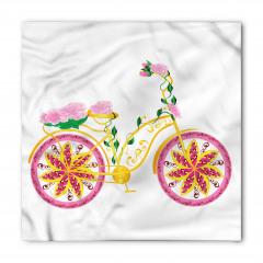 Pembe Bisiklet Desenli Bandana Fular
