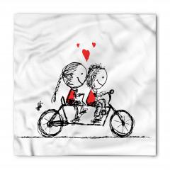 Bisikletli Aşıklar Temalı Bandana Fular
