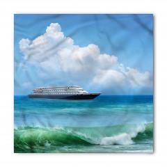 Deniz ve Gemi Desenli Bandana Fular