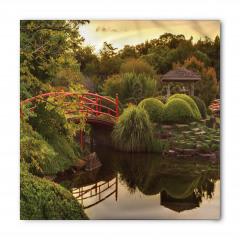 Japon Bahçesinde Gün Batımı Bandana Fular