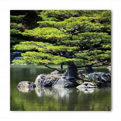 Yaz Mevsiminde Göl Manzarası Bandana Fular