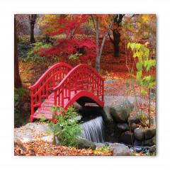 Kırmızı Ahşap Köprü Bandana Fular