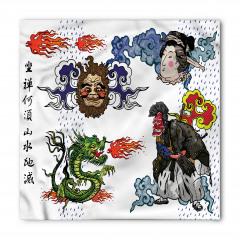Mitolojik Japon Sembolleri Bandana Fular