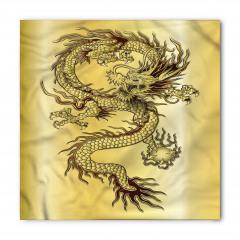 Altın Ejderha ve Güç Topu Bandana Fular
