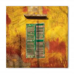 Yeşil Pencereli Bina Bandana Fular