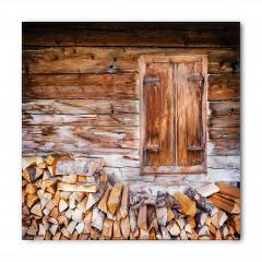Ahşap Ev ve Odunlar Bandana Fular