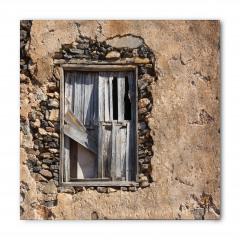 Gri Ahşap Pencere Bandana Fular