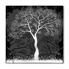 Sanatsal Ağaç Desenli Bandana Fular