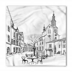 Eski Şehir Manzarası Bandana Fular