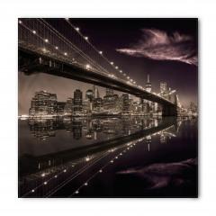 Büyüleyici New York Silüeti Bandana Fular