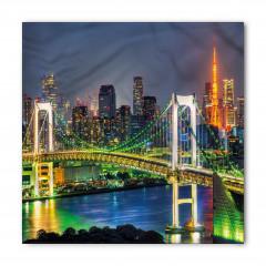 Tokyo Silüeti Gökkuşağı Köprüsü Bandana Fular