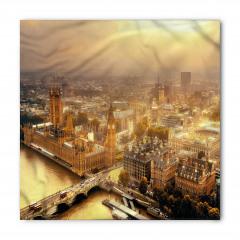 Londra'ya Havadan Bakış Bandana Fular