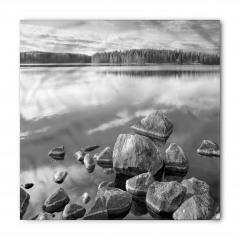 Sonbaharda Göl Kıyısı Bandana Fular