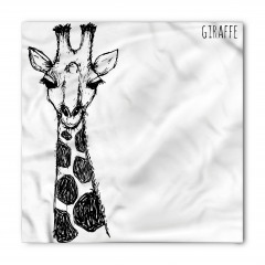 Kara Kalem Zürafa Figürü Bandana Fular