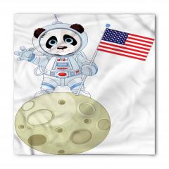 Astronot Panda Desenli Bandana Fular