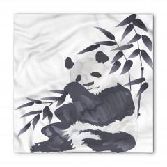 Panda ve Bambu Desenli Bandana Fular