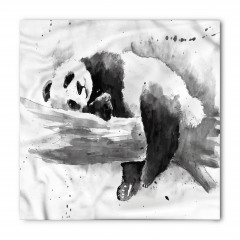 Uyuyan Panda Desenli Bandana Fular