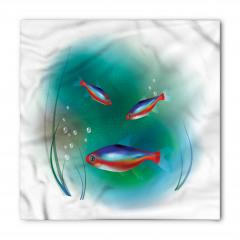 Kırmızı Mavi Balık Bandana Fular