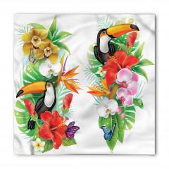 Egzotik Kuş ve Çiçekler Bandana Fular