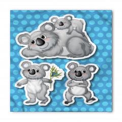 Gri Koala Desenli Bandana Fular