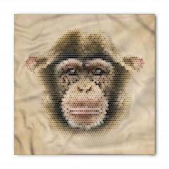 Maymun Yüzü Desenli Bandana Fular