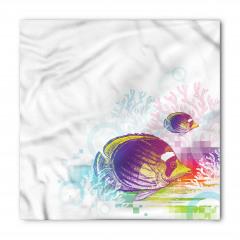 Rengarenk Balık Desenli Bandana Fular
