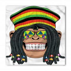 Hippi Maymun Desenli Bandana Fular