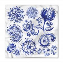 Mandala Çiçek Desenli Bandana Fular