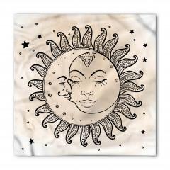 Güneş Ay ve Yıldızlar Bandana Fular