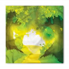 Güneşli Yoldaki Ağaçlar Bandana Fular