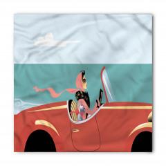 Kırmızı Arabadaki Kadın Bandana Fular