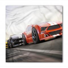 Yarış Arabası Desenli Bandana Fular